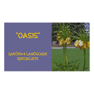 FLORAL BUSINESS CARD/LANDSCAPING, GARDENING,ETC. PACK OF STANDARD BUSINESS CARDS
