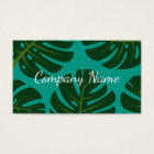Floral business card template with palm leafs