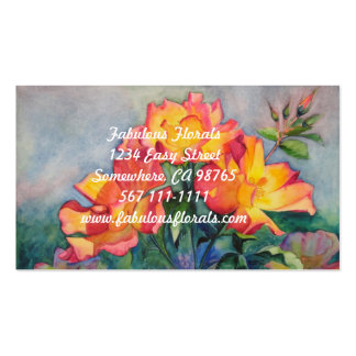 Floral Business Cards for gardeners or florists.