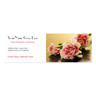 Floral Business Pink Carnations Pack Of Skinny Business Cards