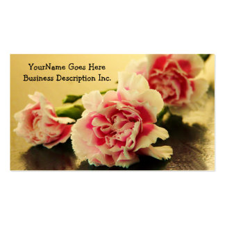 Floral Business Pink Carnations Pack Of Standard Business Cards