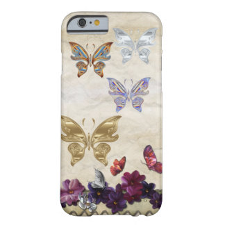 Floral butterflies barely there iPhone 6 case