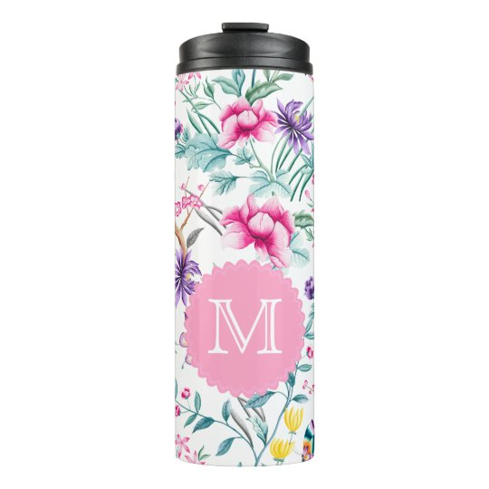 Floral & Butterflies Chinoiserie Thermal Tumbler