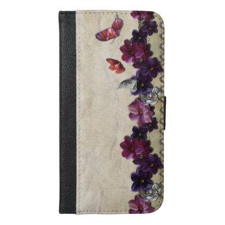 Floral butterflies iPhone 6/6s plus wallet case