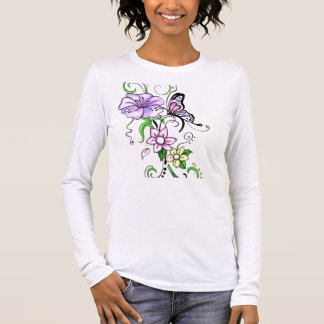 Floral Butterfly Long Sleeve T-Shirt