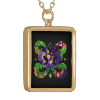 Floral Butterfly Motif Necklace