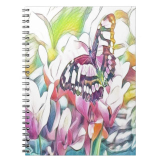floral butterfly notebooks