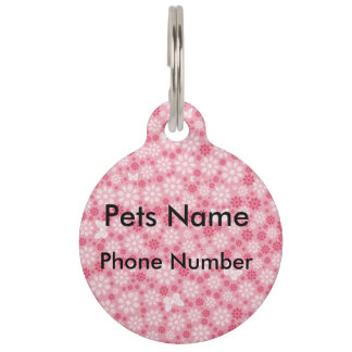 Floral Butterfly Pet Tag