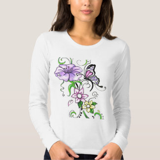 Floral Butterfly T Shirts