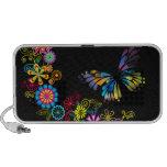 Floral Butterfly Vector Art Doodle Speaker