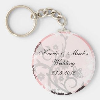 Floral Butterfly Wedding Favors Key Ring