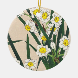 Floral Calander of Japan Kawarazaki Shodo japan Round Ceramic Decoration