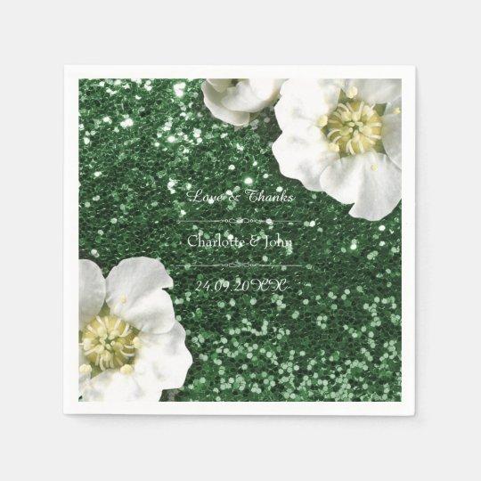 Floral Cali Green Jasmin Thank You Custom Glitter