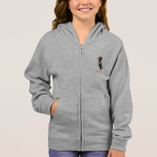 Floral California State & Moveable Heart Monogram Hoodie