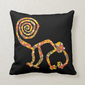 Floral Camouflage Nazca Monkey Pillow