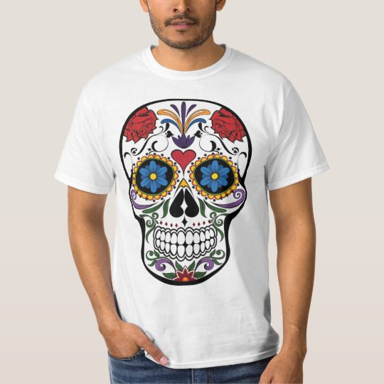 Floral candy skull t-shirt