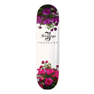 Floral Canvas Skateboard