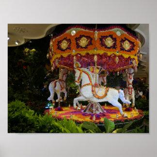 Floral Carousel Wynn Las Vegas Poster
