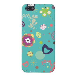 Floral Cartoon iPhone Case Cover For iPhone 5