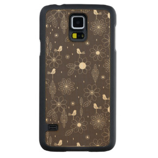 Floral Carved Maple Galaxy S5 Case