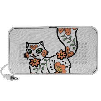 Floral Cat Notebook Speakers