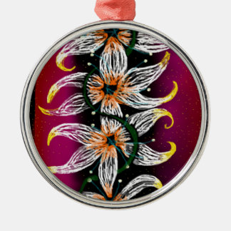 Floral chain christmas ornament