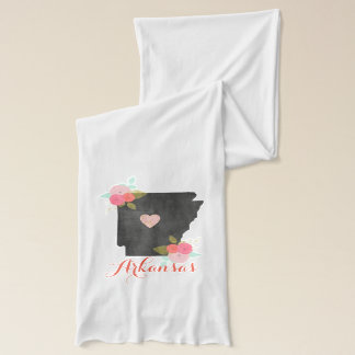 Floral Chalkboard Arkansas State & Moveable Heart Scarf