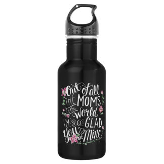 Floral Chaulkboard Water Bottle by Mini Brothers