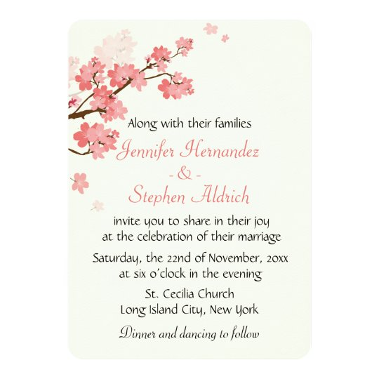 Floral Cherry Blossom Flower White & Pink Wedding