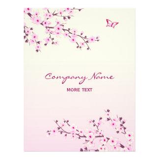 Floral Cherry Blossom Pink 21.5 Cm X 28 Cm Flyer