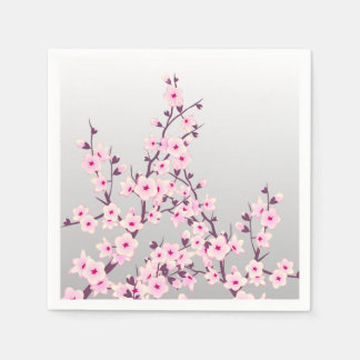 Floral Cherry Blossoms Disposable Serviette