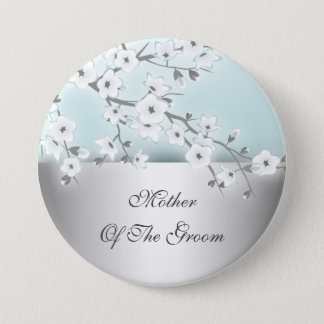 Floral Cherry Blossoms Mother Of The Groom 7.5 Cm Round Badge