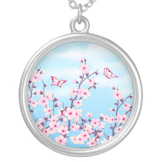 Floral Cherry Blossoms Necklace