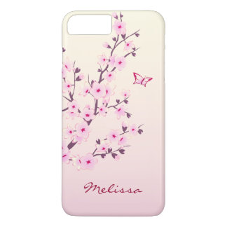 Floral Cherry Blossoms Pink iPhone 8 Plus/7 Plus Case