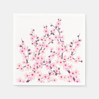 Floral Cherry Blossoms (Sakura) Disposable Napkin