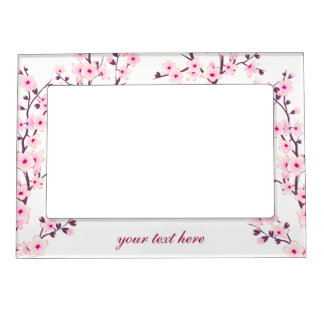 Floral Cherry Blossoms (Sakura) Picture Frame Magnets