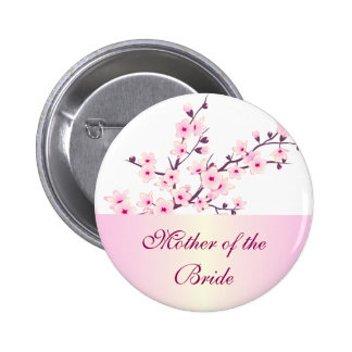 Floral Cherry Blossoms Wedding 6 Cm Round Badge