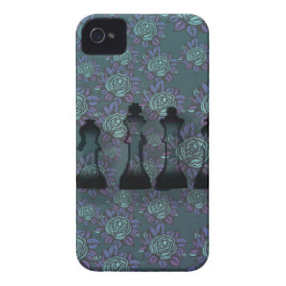 Floral Chess iPhone 4 Covers