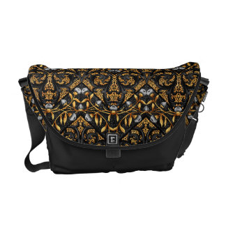 Floral Chevron Paisley Filigree ZigZag Flowers Commuter Bags