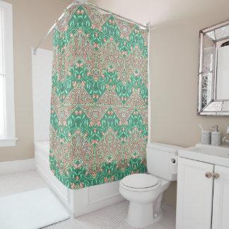 Floral Chevron Paisley Filigree ZigZag Flowers Shower Curtain