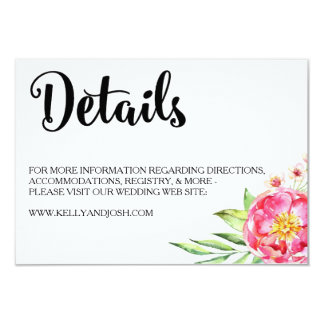 Floral Chic Details Card