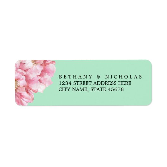 Floral Chic Return Address Labels / Mint