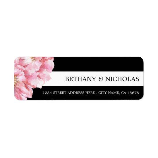 Floral Chic Wedding Return Address Labels