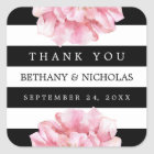 Floral Chic Wedding Thank You Favour Stickers