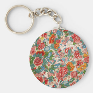 Floral chinese ornament Keychain