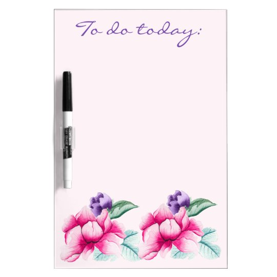 Floral Chinoiserie Custom Dry Erase Board