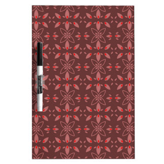 Floral Chocolade Design Dry Erase Whiteboard