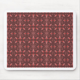 Floral Chocolade Design Mouse Pad