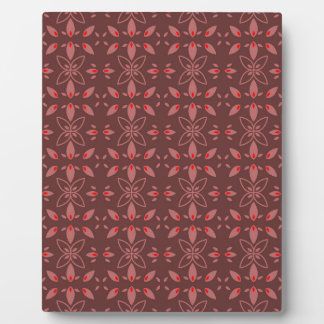 Floral Chocolade Design Plaque