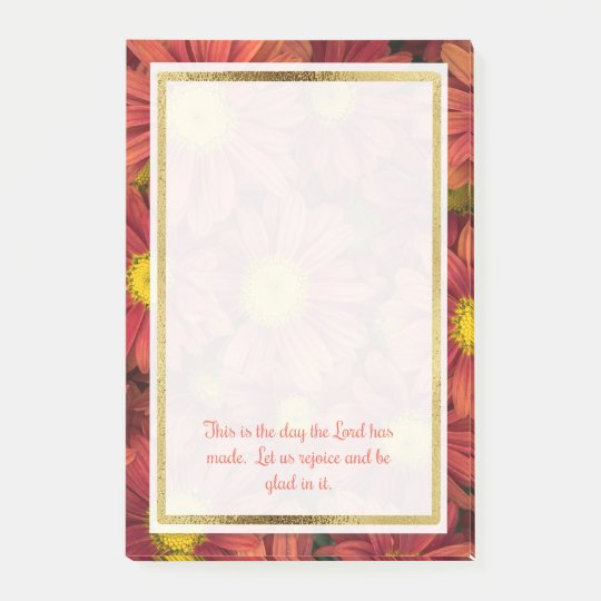 Floral Christian Bible Verse Post It Post-it Notes